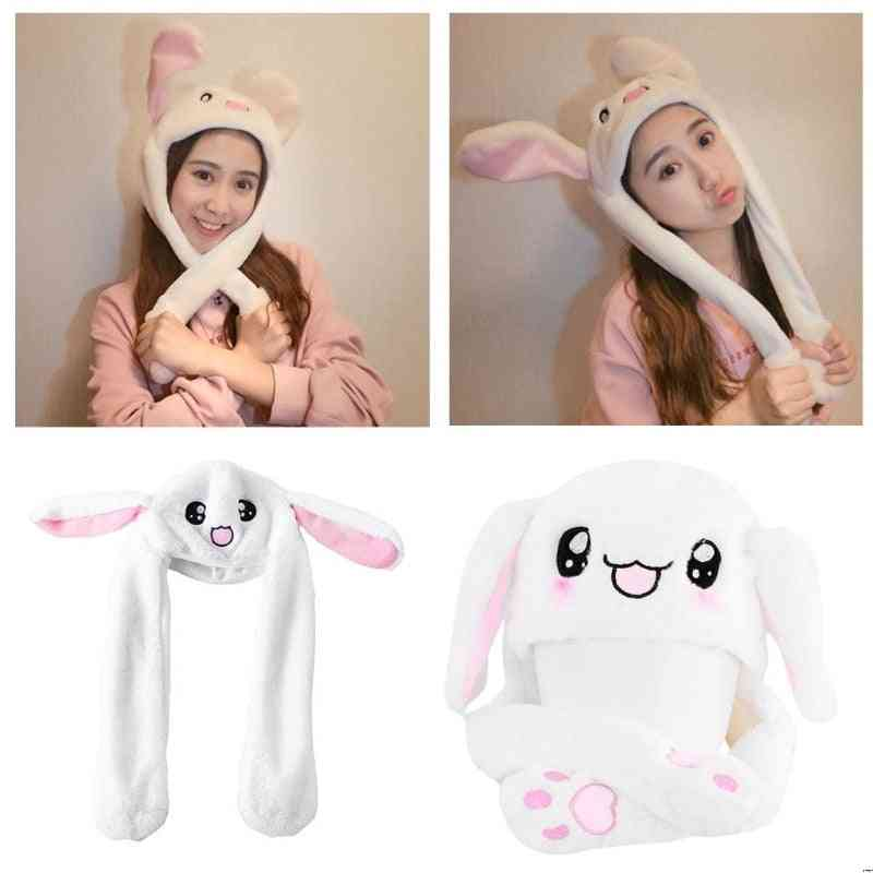 Magic Rabbit Hat With Moving Ear Plush Toy Kids Toy Party Photo.