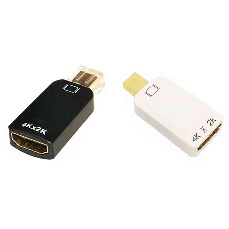 4kx2k Mini Dp To Hdmi Adapter Displayport Male To Female Hd 1080p Hdmi Converter For Air Pro