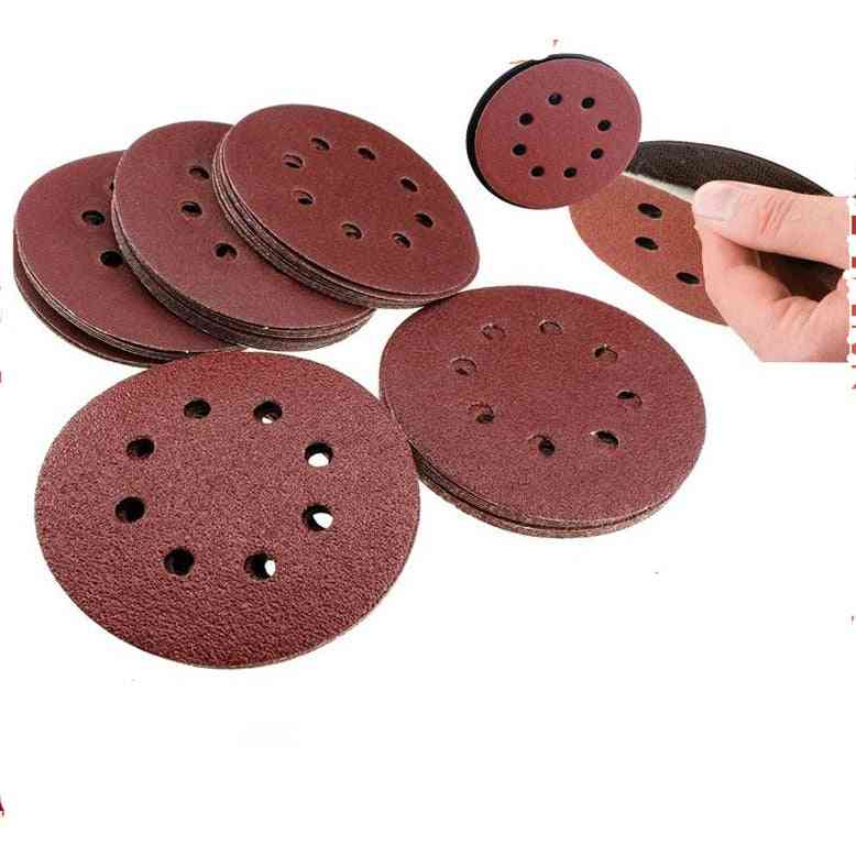 Sanding Discs 8 Holes Sandpaper Pads Set Hook & Loop Abrasive Sander Paper
