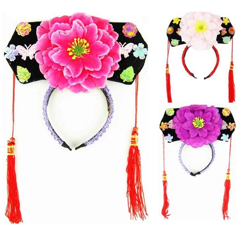 Oriental Princess Peony Hairband Hair Accessories Hat.