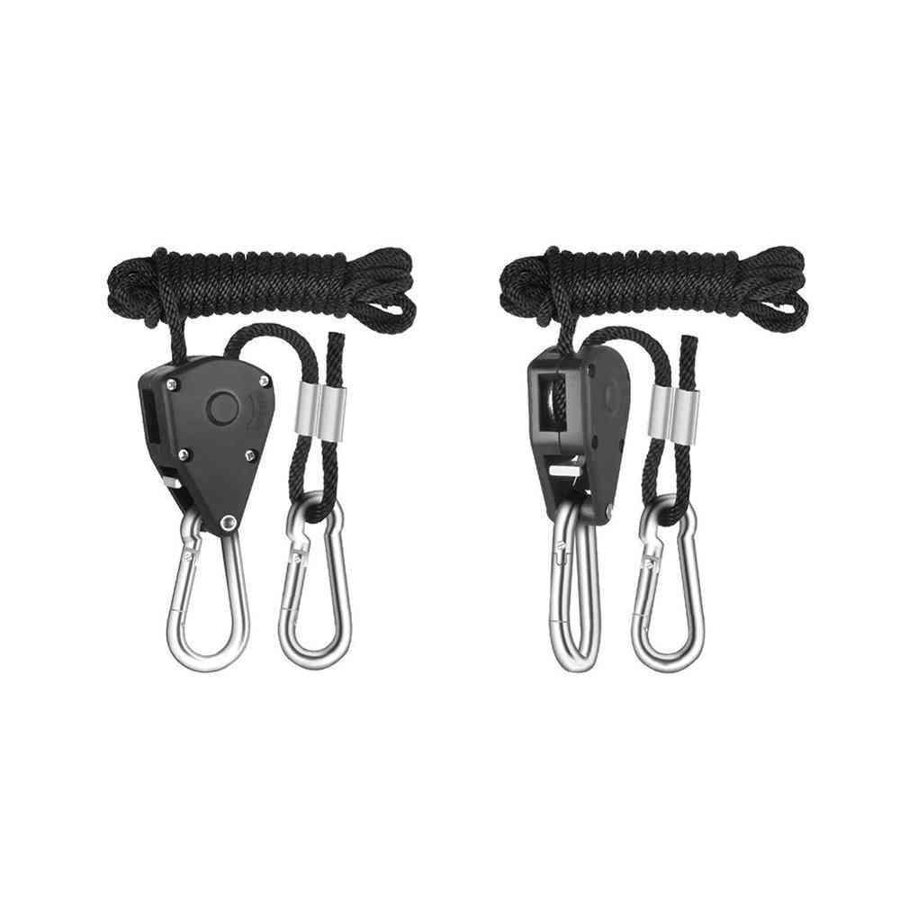 Adjustable Pulley Sling Lifting Rope Ratchet Hook