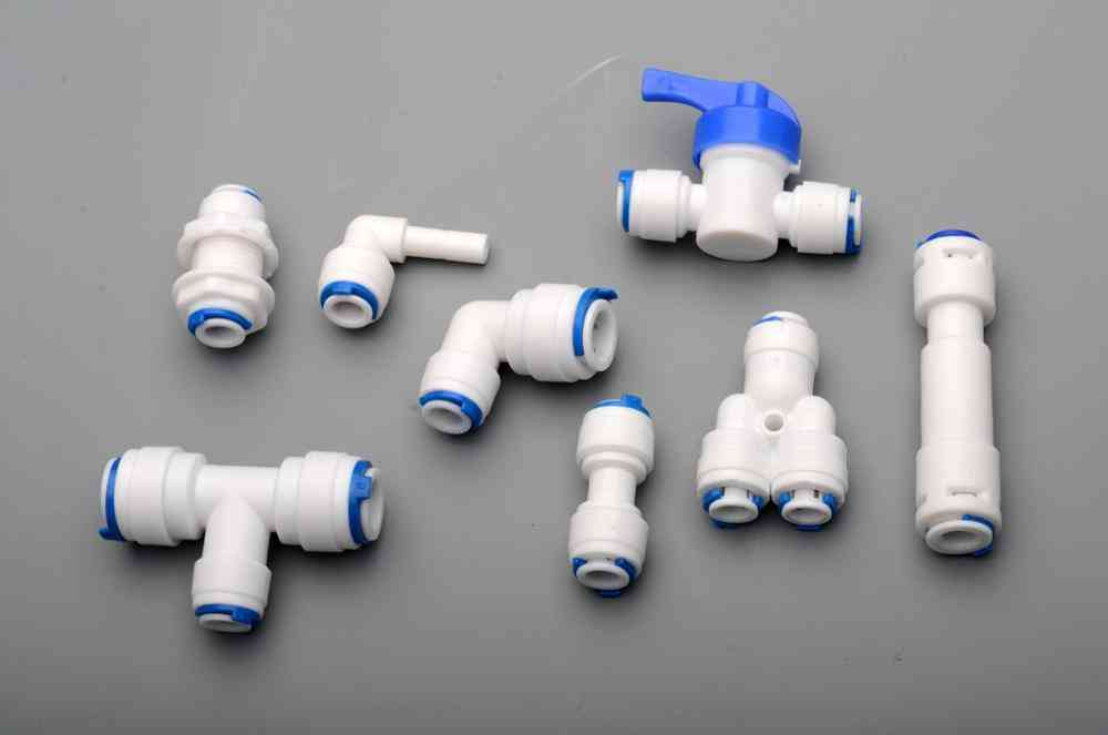 1/4 Od Pe Tube To Tube Quick Connector Family Drinking Water Ro Filter Reverse Osmosis System