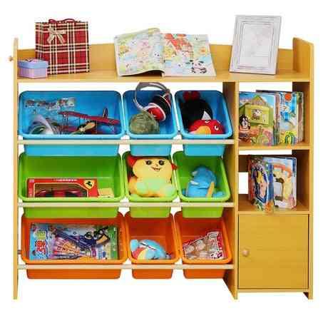 Children Cabinet Furniture Plastic Wooden Bookshelf Baby Bookcase