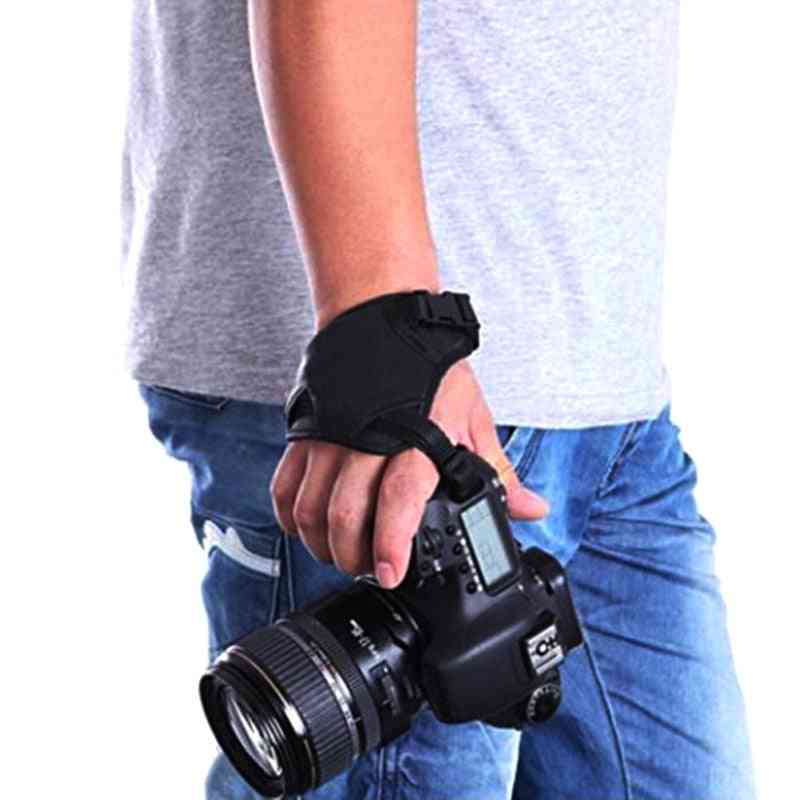 Camera Pu Leather Grip, Rapid Wrist Strap, Soft Hand Bag, Olympus Black