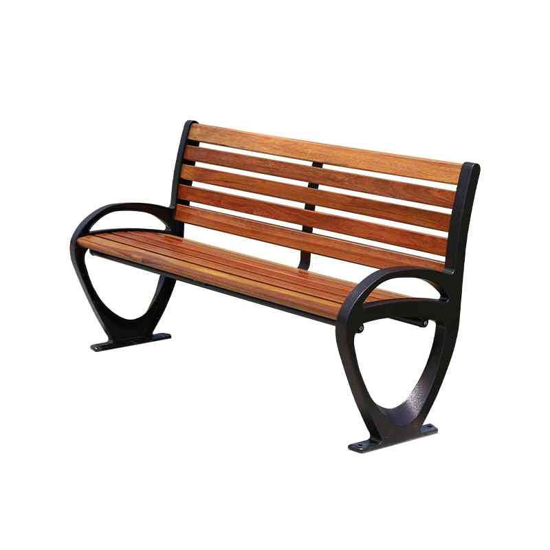 Patio Benches Metal Aluminum Frame Park Wooden Bench For Outdoor Use