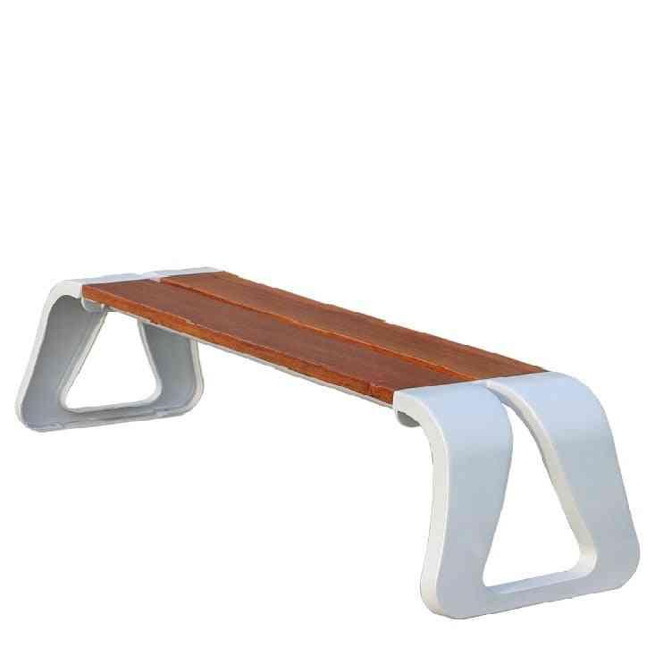 Patio Garden Benches Aluminum Frame Outdoor Park Yard