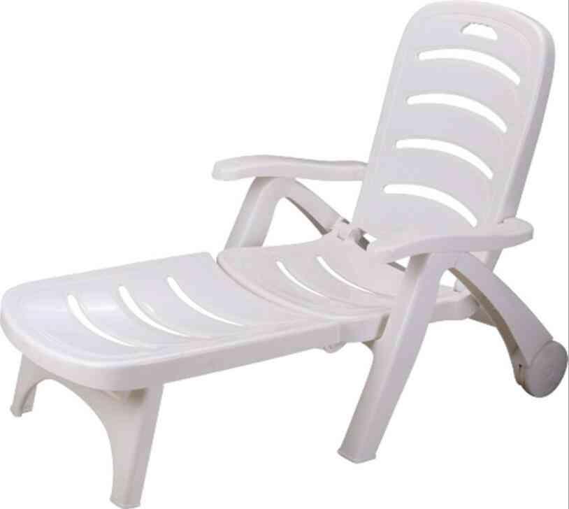 Thicken Pool Sun Lounger Portable Folding Deck Chair