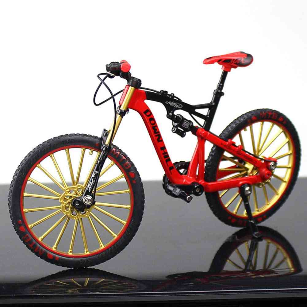 Crafts Simulate Riding, Free Standing Office Toy, Figurine Home Decor, Rotatable Bike Model, Zinc Alloy Ornament