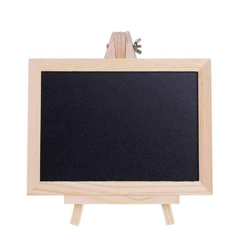 Wood Tabletop Chalkboard Double Sided Blackboard
