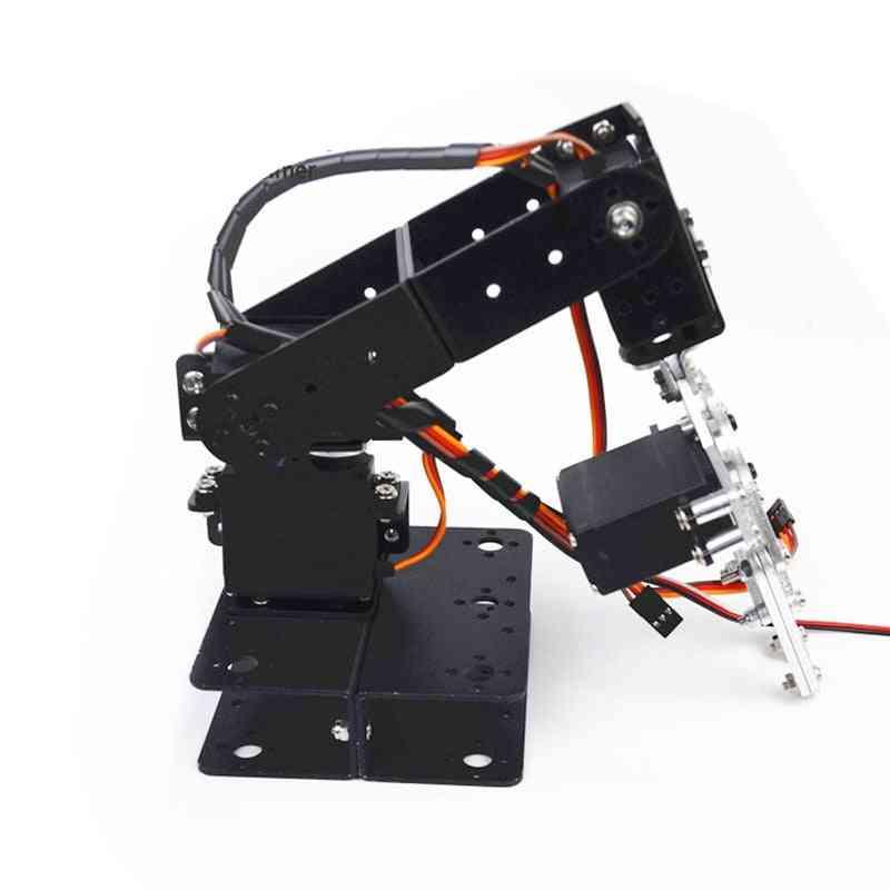 Aluminum Alloy Arduino Dof Robot, Arm With Claw Gripper, Manipulator Servo Bracket Mechanical Diy Robots Unassembled