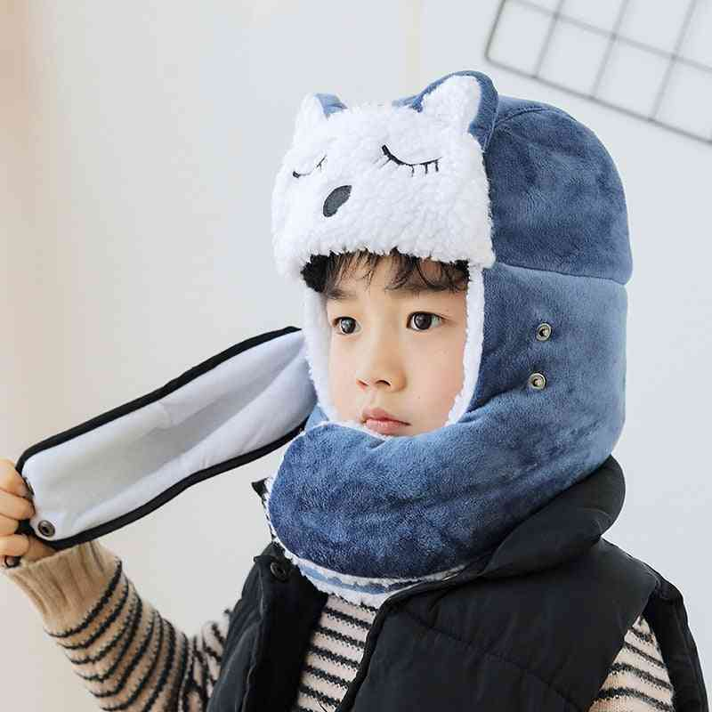 Animal Child Hat, Kids Autumn Winter Protection Cap