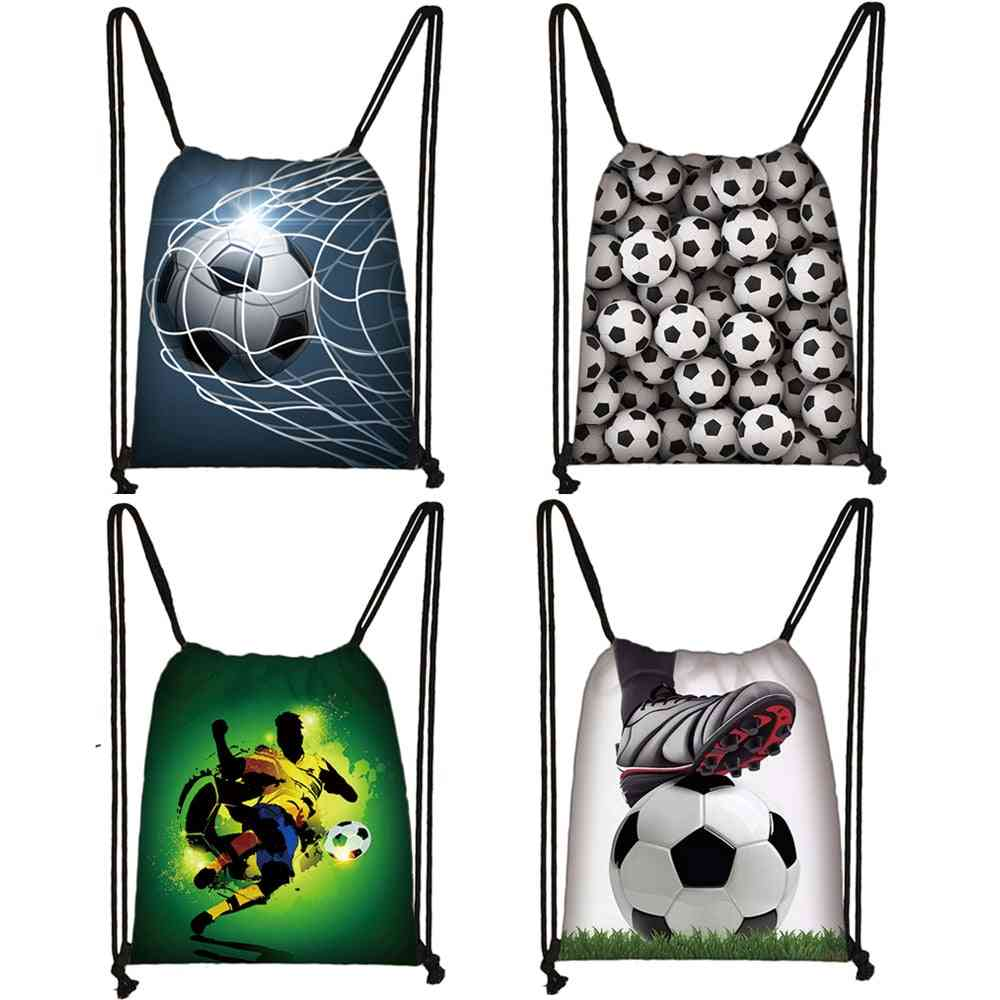 Cool Football / Soccer Print Drawstring Bag