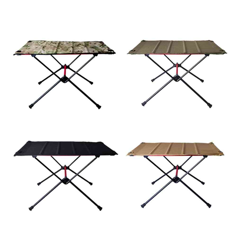 Ultra-light Foldable Camping Table Aluminum Alloy Outdoor Furniture Dinner Desk For Family Party