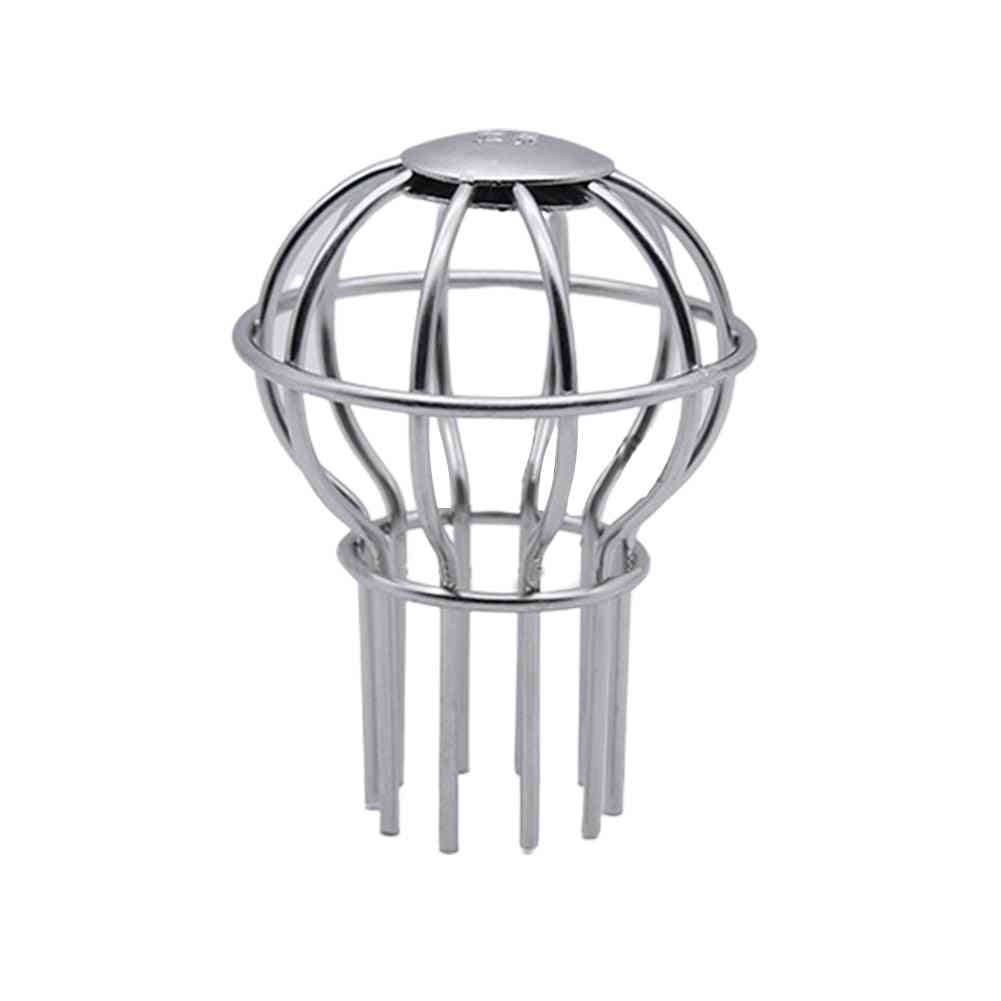 Outdoor Cleaning Drain Filter, Strainer, Anti-clogging Stops Leaves, Balcony Debris Floor Stainless Steel Rooftop Gutter Guard Tool
