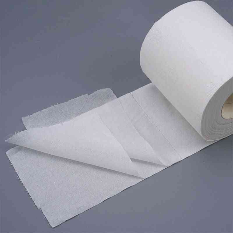 Family Toilet Paper, Ultra Soft, Wood Pulp 3-ply Thickened, Bath Tissue.