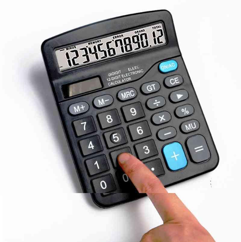 12 Digit Large Screen Solar Electronic Calculator