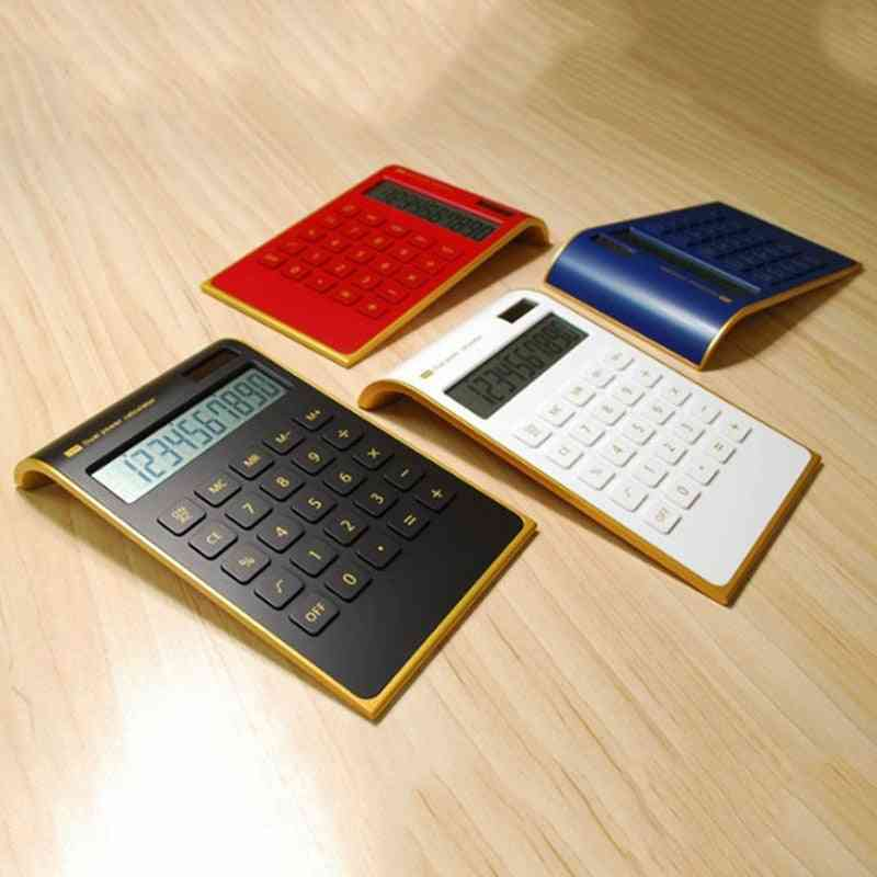 Dual Power Handheld Desktop Calculator With Large Lcd Display