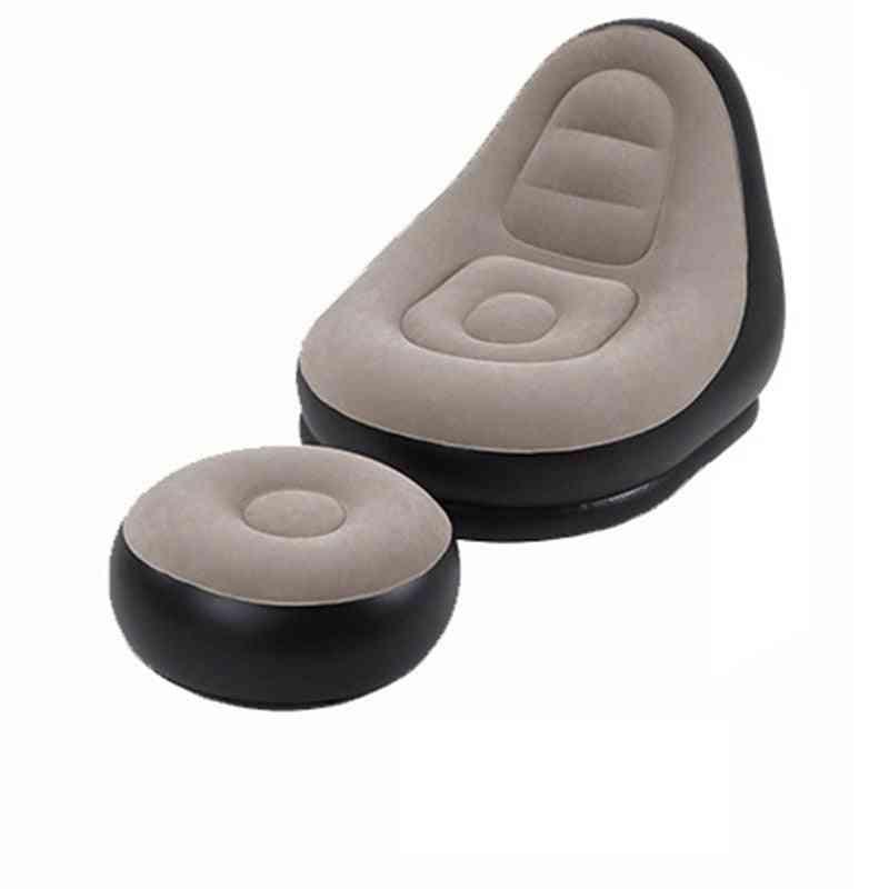 Lazy Sofa Chair Flocking Stool Single, Sofa-bed Lounge Chair