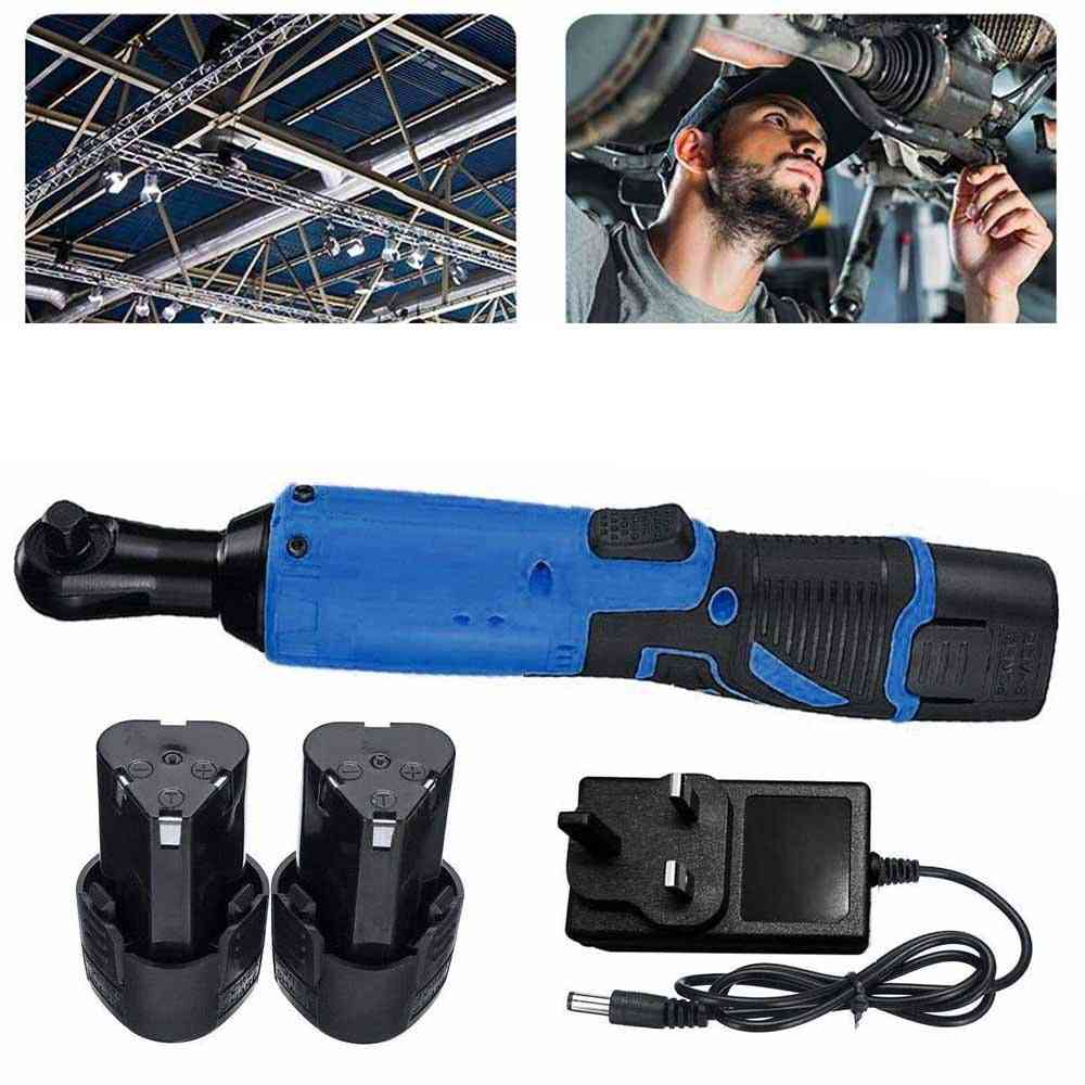 Right Angle Cordless Electric 12v Ratchet Wrench Remove Screws Nuts Auto Repair Tools