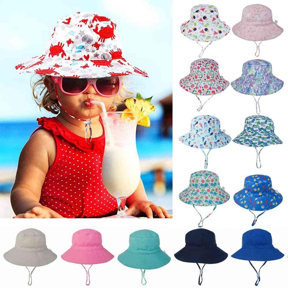 Summer Outdoor Uv Protection Hat, Sun Hat Strap Cap