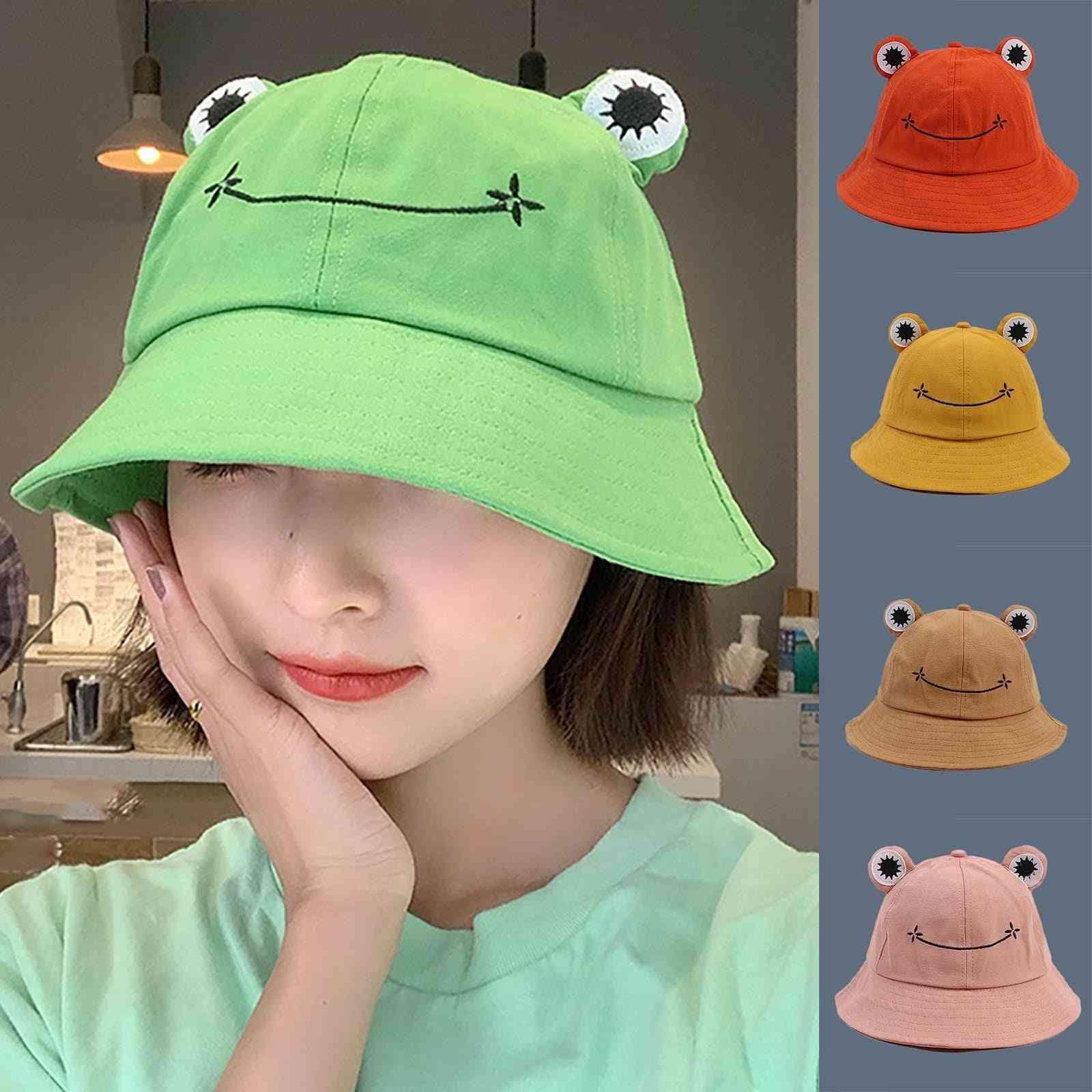 Frog Bucket Hat For Women, Summer Women Fishing Cap