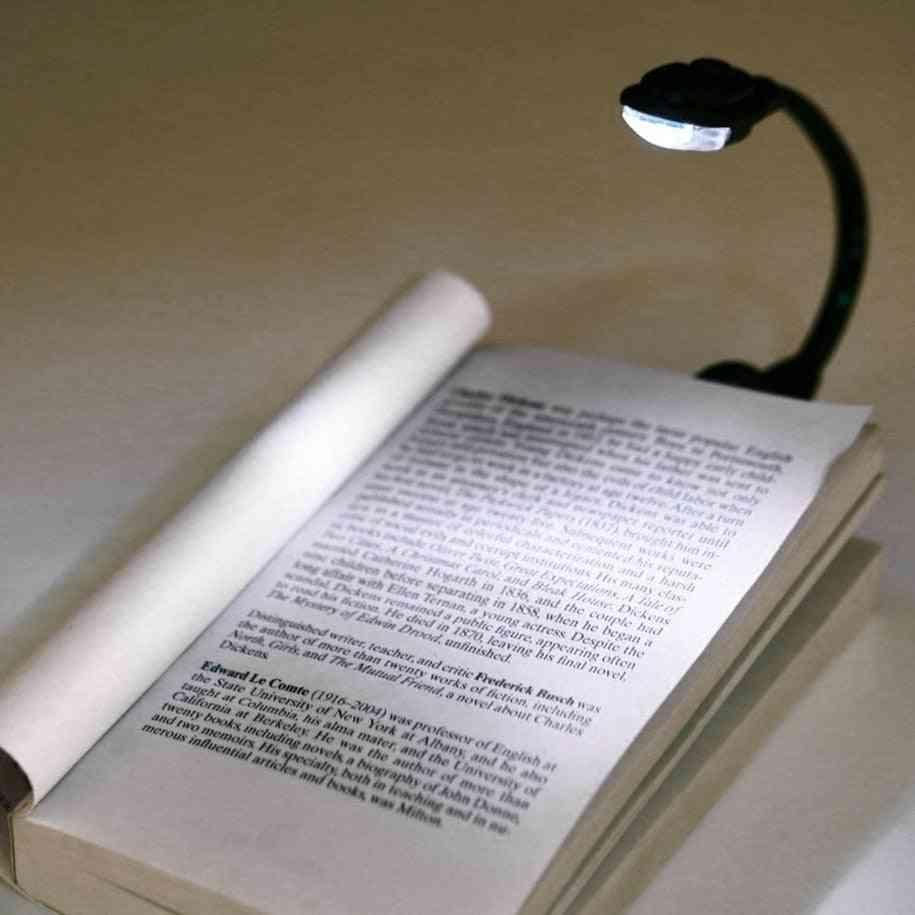 Mini Flexible Clip-on Bright Book Light, Laptop Led Book, Reading Light Lamp.