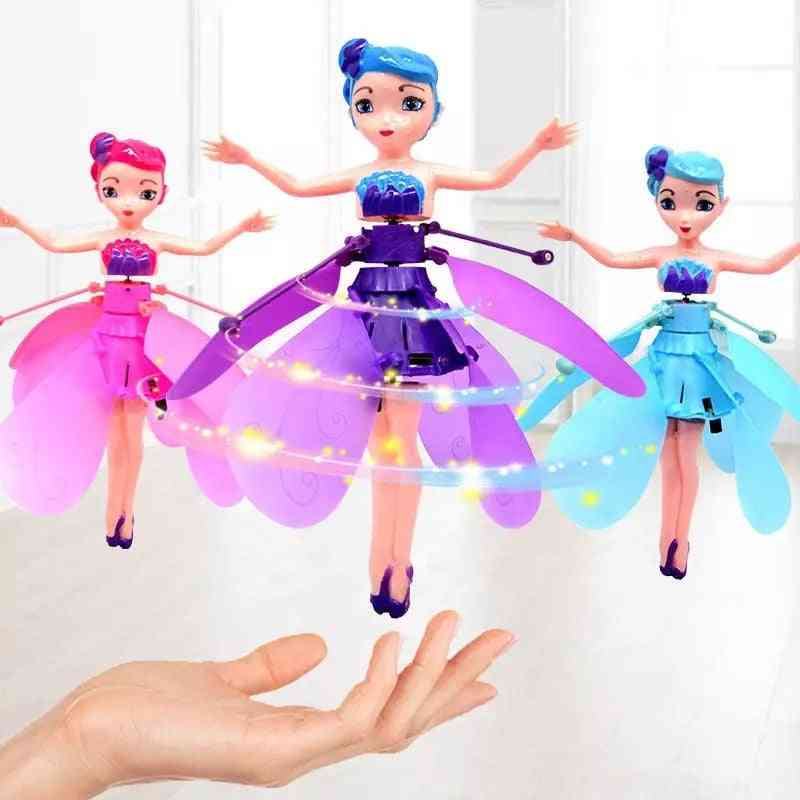 Flying Fairy Mini Drone Helicopter's Luminous Flying Vehicle Toy.