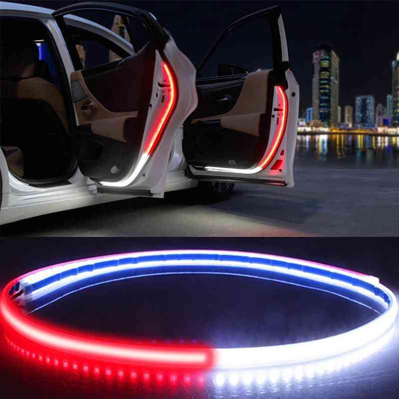 Car Interior Door Welcome Light Led Safety Warning Strobe Signal Lamp Strip