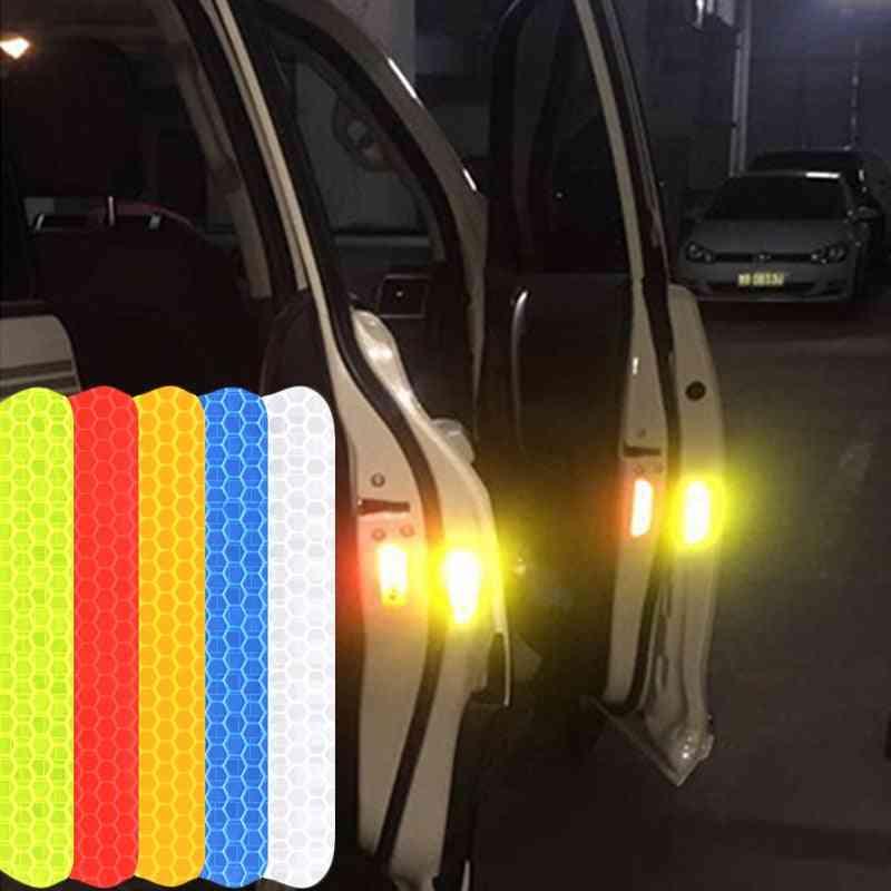 Car Reflective Stickers Vehicle Door, Wheel Eyebrow Sticker And Warning Tape / Strips