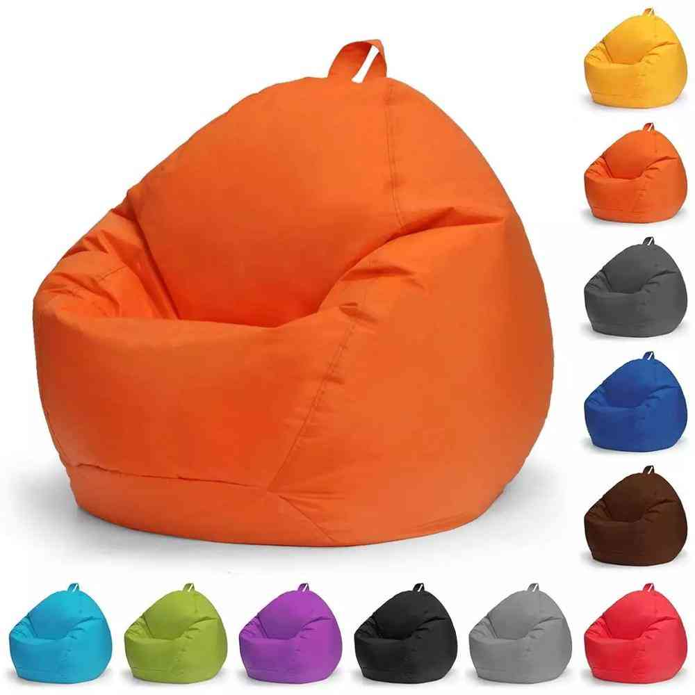 Lazy Beanbag Sofas Cover Chair No Filler 420d Oxford Waterproof