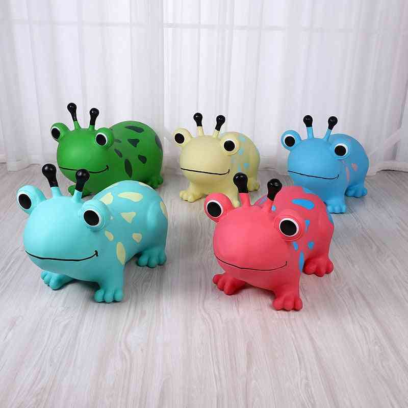 Baby Pvc Inflatable Frog Sports, Ride On Animal, Jumping Horse Bouncy Toy For Kids