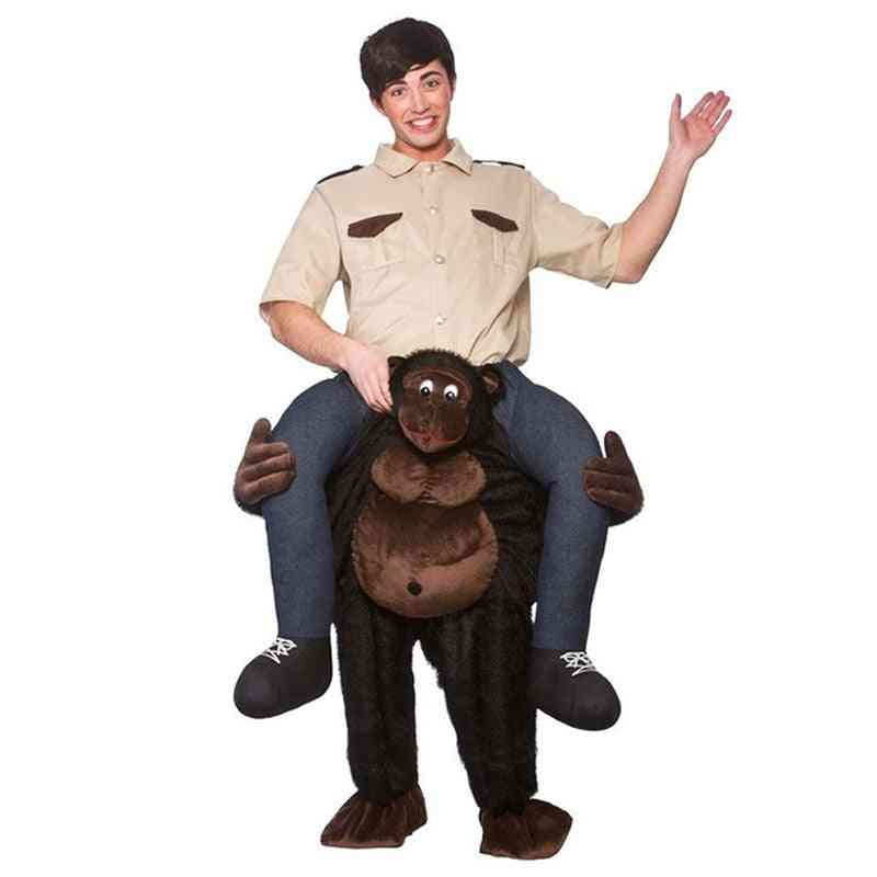 Giant Gorilla Ride-on Animal Costumes, Christmas Make-up Party, Monkey Cosplay Clothes, Carnival Adult Dress Up, Horse Riding