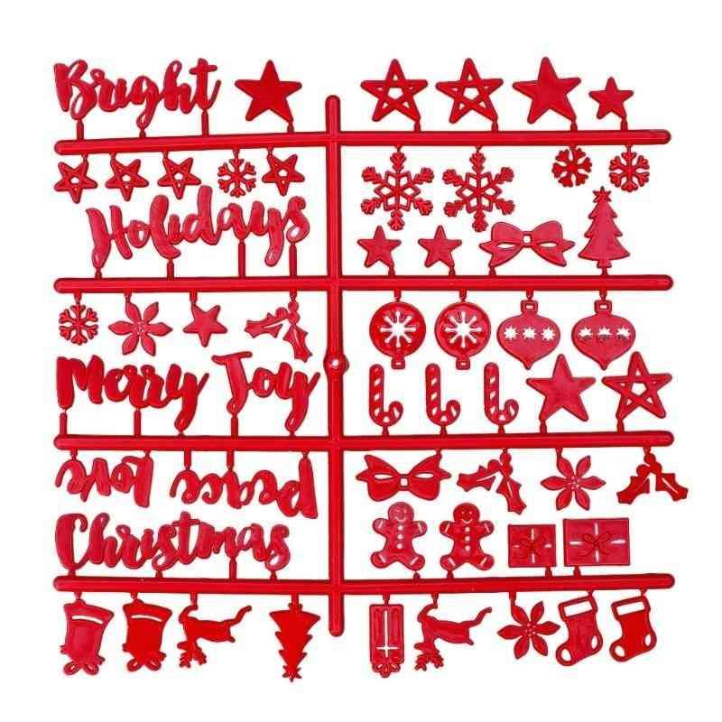 Christmas Felt Sign Board Plastic Letters