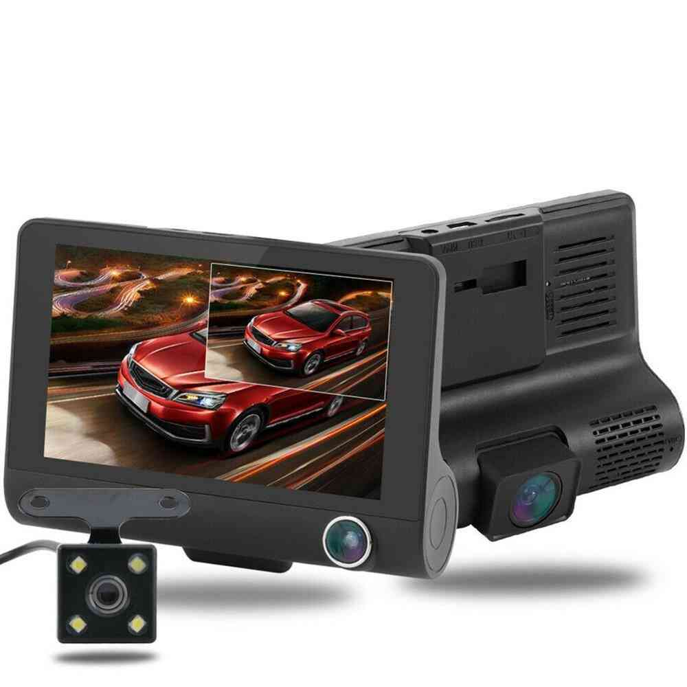 4-inch Lcd High Definition 1080p 32gb 3 Lens Vehicle Dvr Driving Recorder