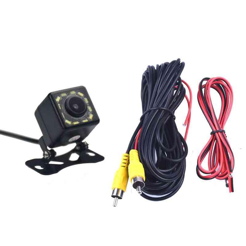 Car Monitor Reverse Parking And 12 Led Night Vision Rear View Camera