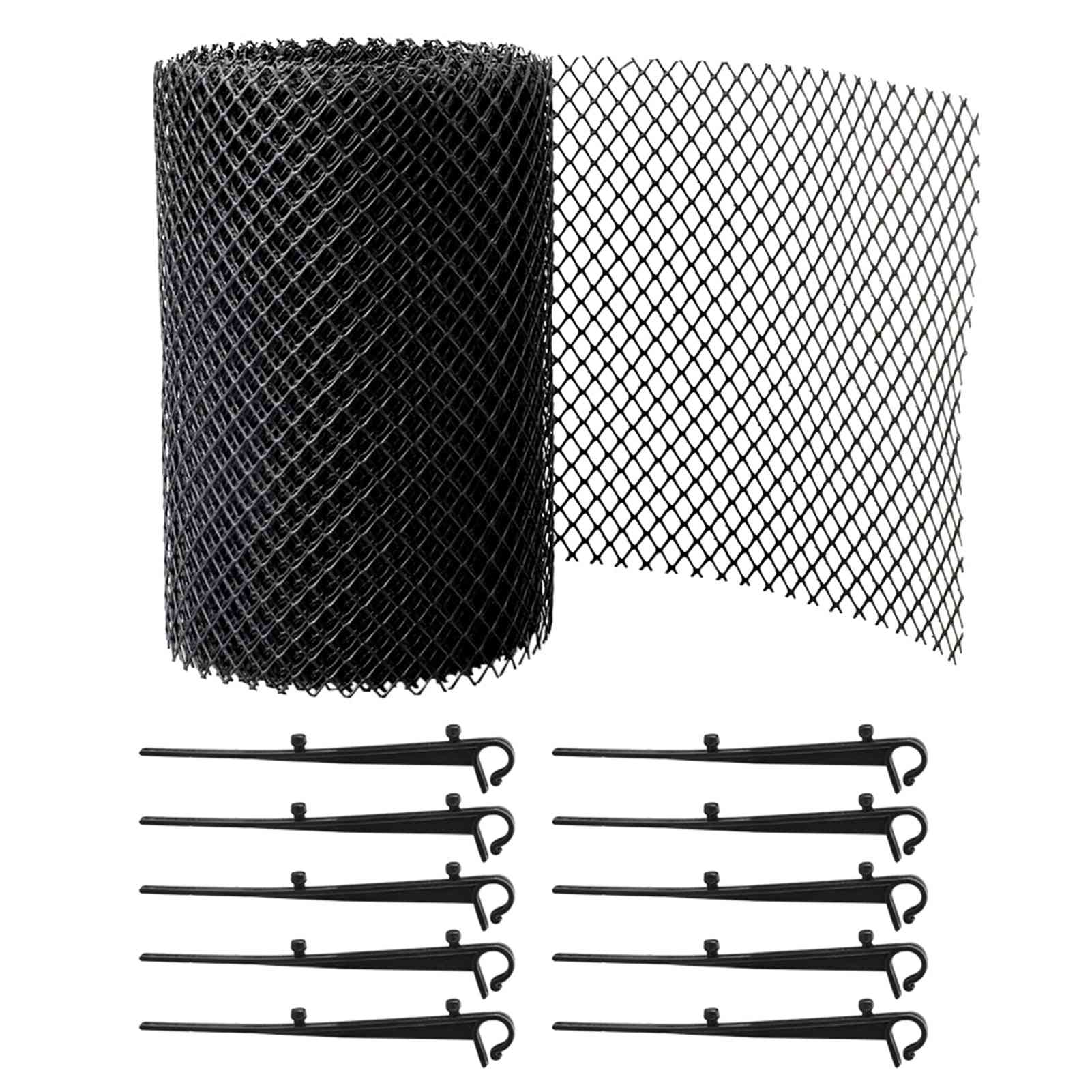 Gutter Guard Reduce Overflow Mesh Cover Floor Outdoor Balcony Drain Easy Install With Stakes Anti Clogging Stops Leaves Flexible