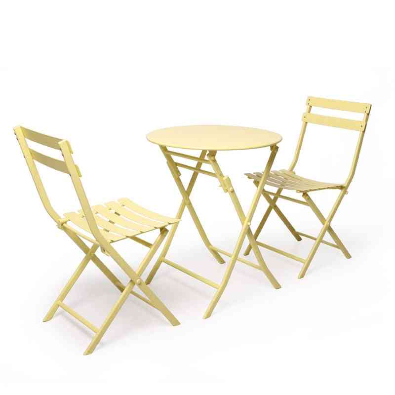 Simple Nordic Leisure Table And Chair Combination Balcony Wrought Iron Furniture
