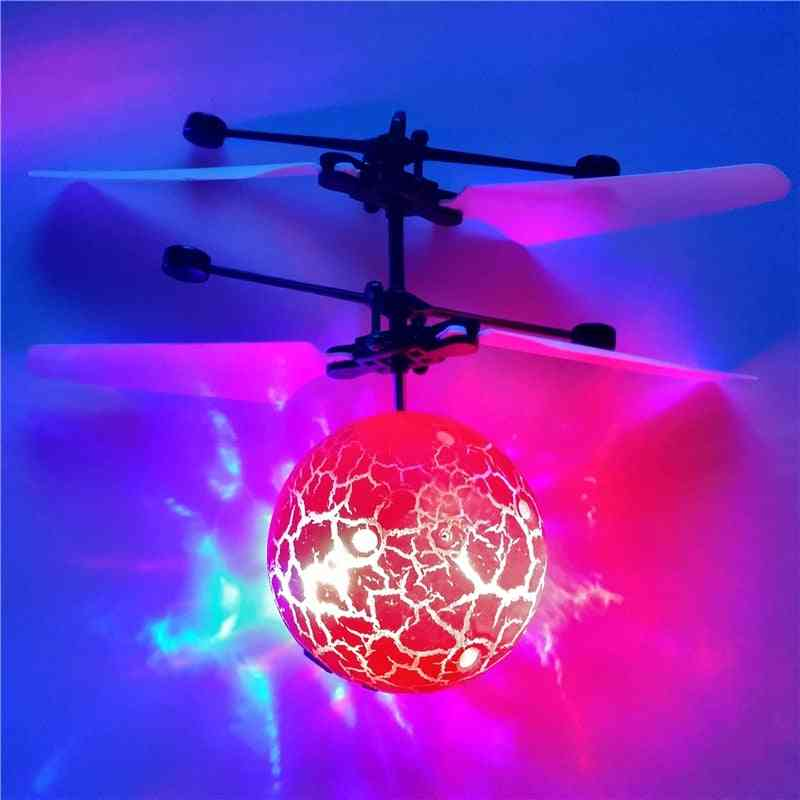 Infrared Induction Drone, Flying Flash, Led Lighting Ball Helicopter, Child Kid Toy, Gesture-sensing