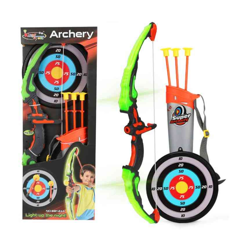 Light Up Archery Bow And Arrow Toy Set For, With Suction Cup Arrows