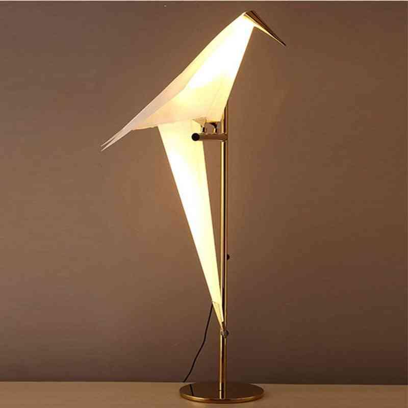 Modern Paper Birds, Floor Lamp, Led Standing Lamp, Lamps For Living Room.