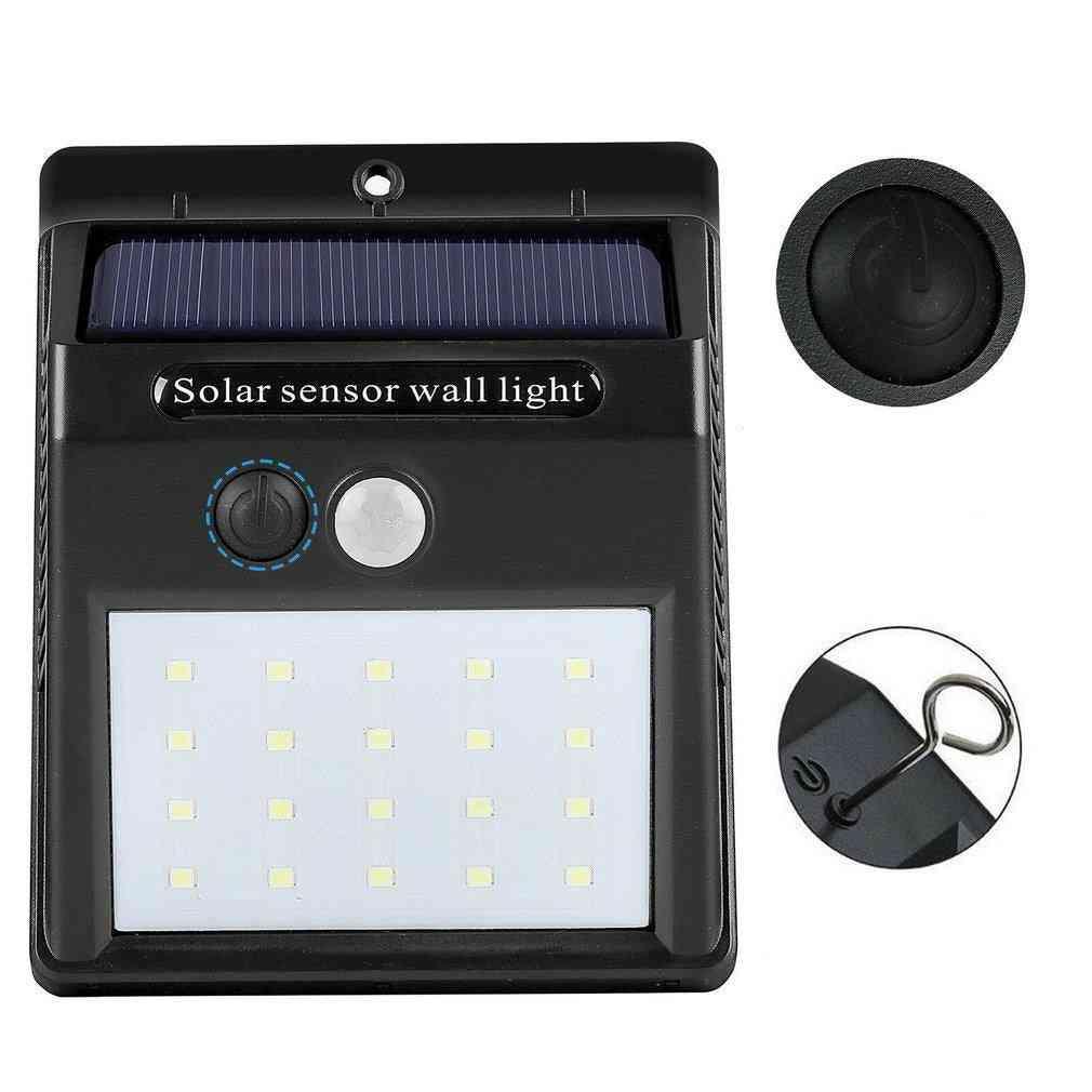 Led Outdoor Solar Lamp Powered Sunlight Waterproof Pir Motion Sensor Street Light For Garden Decoration