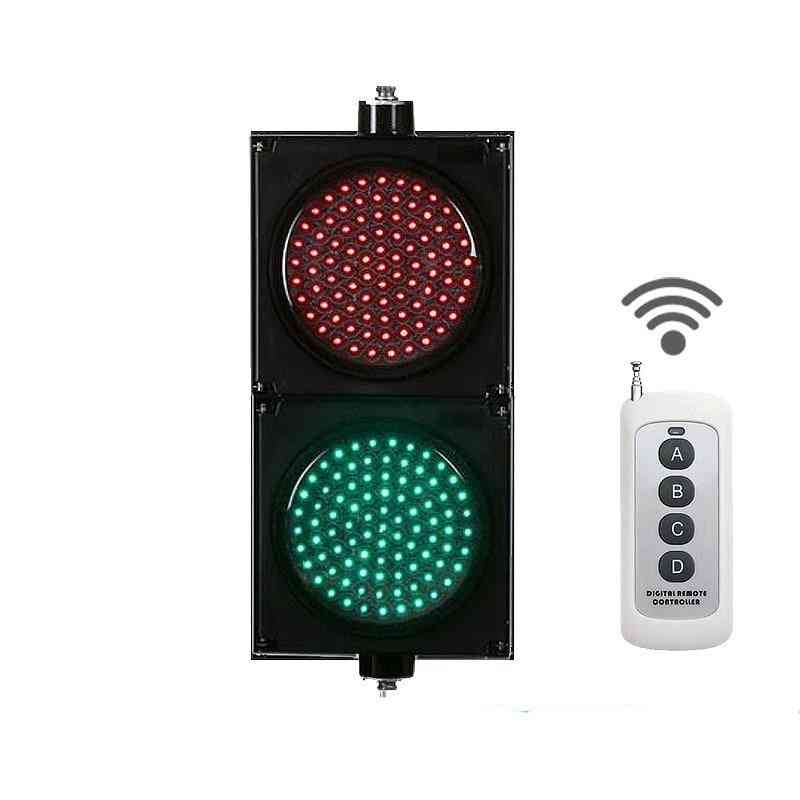 Wireless Remote Control Running Controller 8inches 200mm Red Green Led Traffic Signals Light