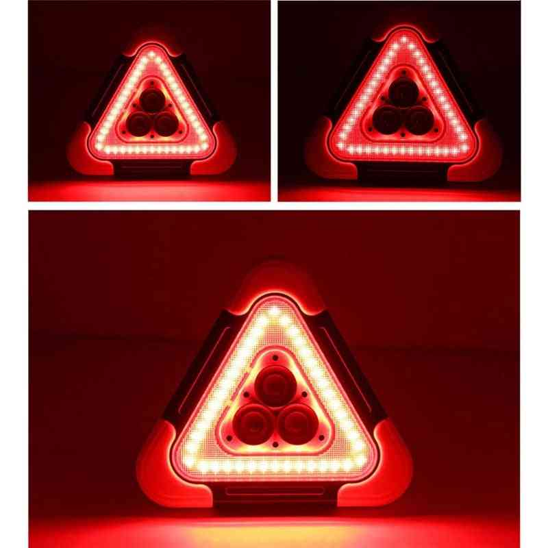 Multi-function Triangle Warning Sign Car Led Light Road Safety Emergency Breakdown Alarm Lamp