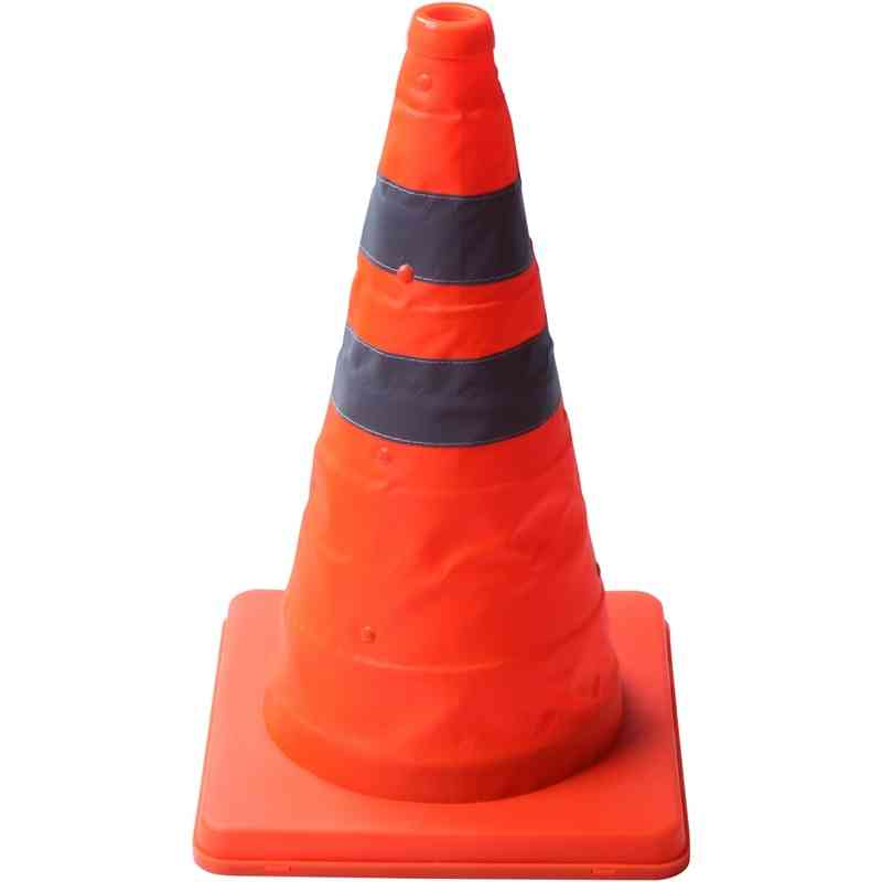 40cm Warning Reflective Cone Traffic Movement Retractable Collapsible Convenient Storage