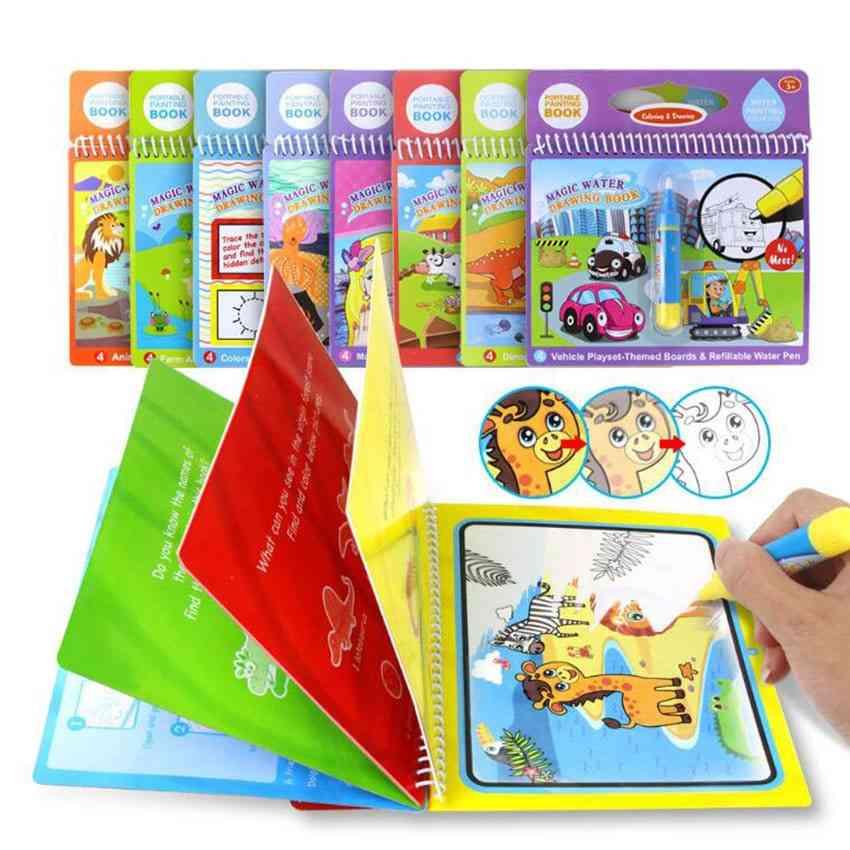 Drawing Books+ Pen Kit Reusable Magic Coloring Book\