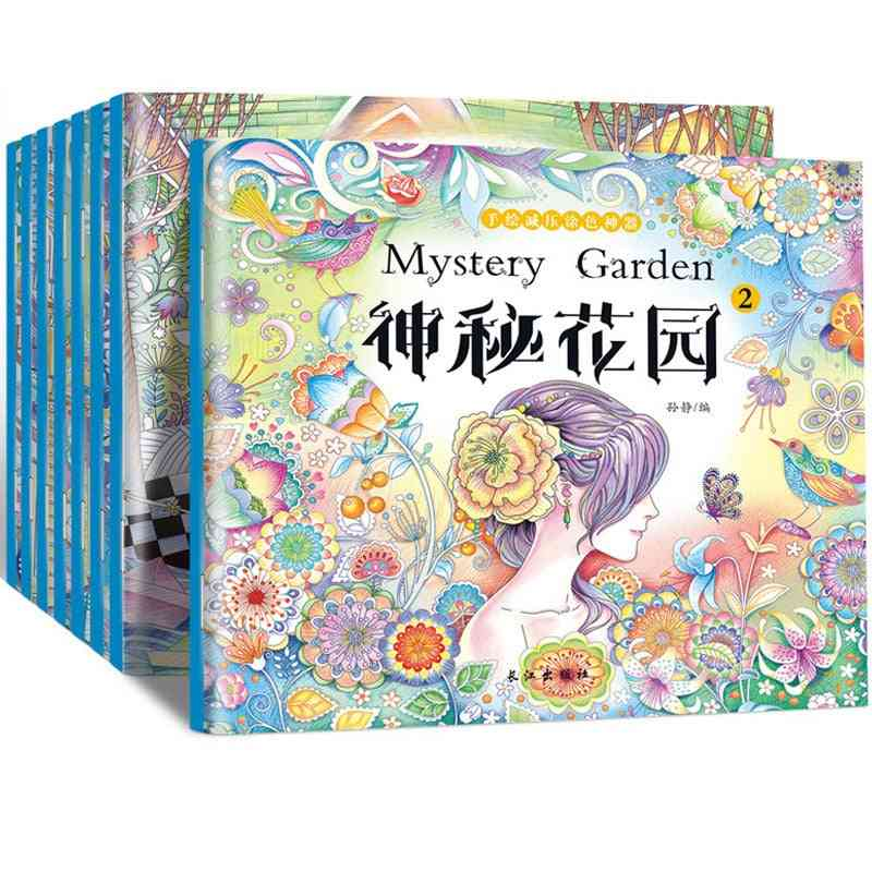 Mysterious Garden Adult Decompression Coloring Drawing Art Book