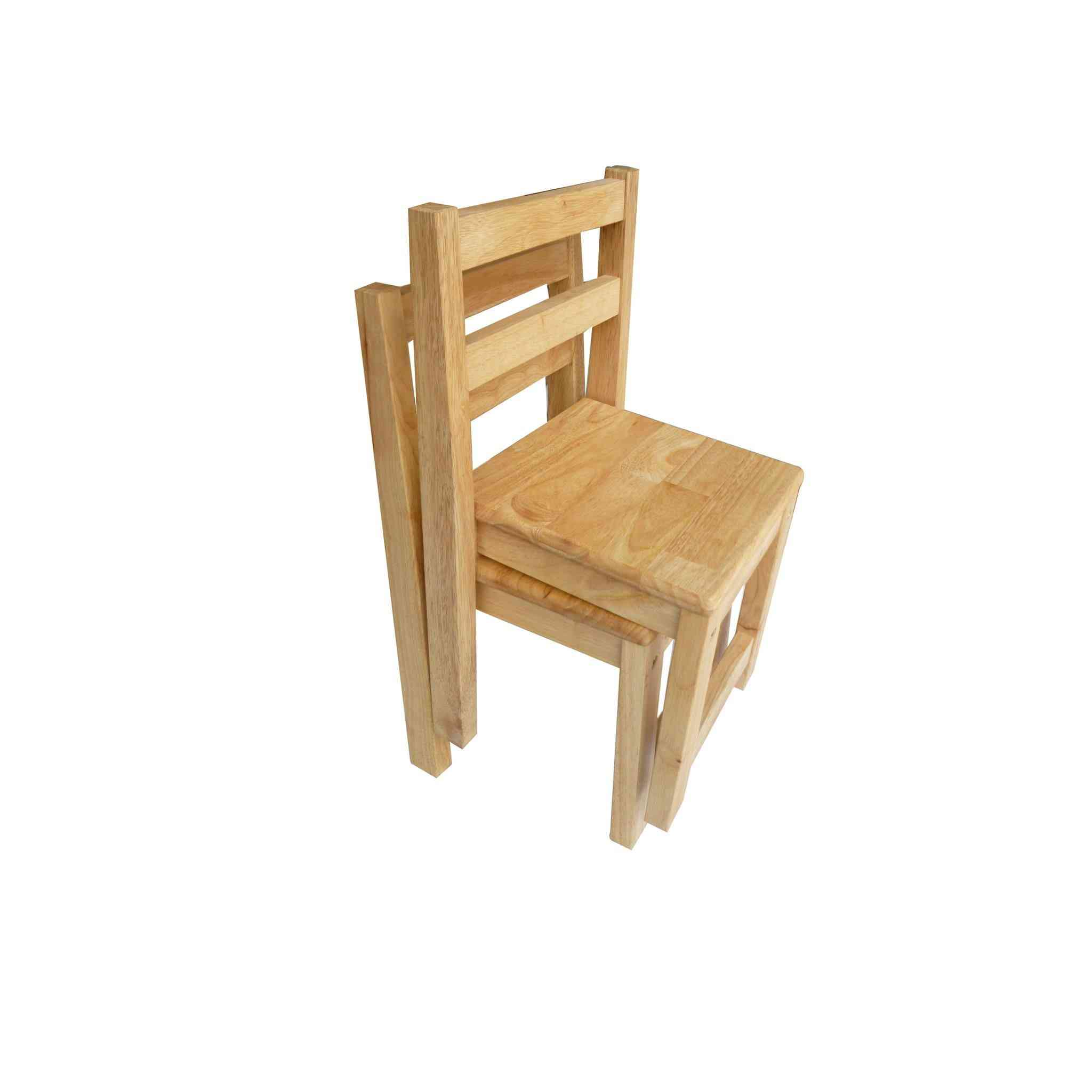 Qtoys Australia Standard Chairs - Rubberwood