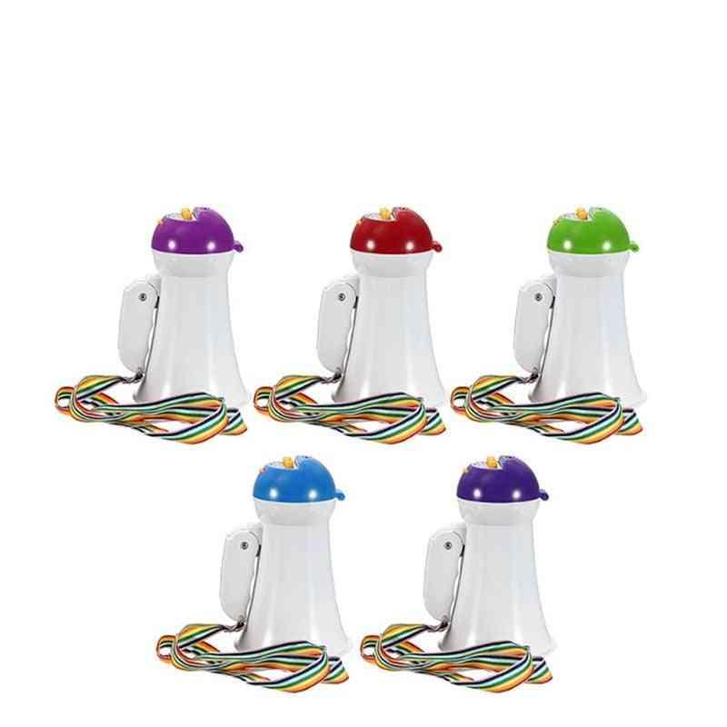 Portable Foldable Handheld Megaphone, Loud Speaker Amplifier, Recorder, Bullhorn