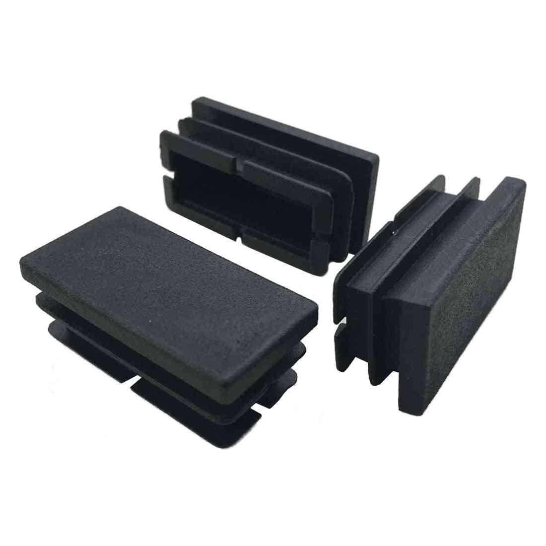 8 Pcs Black Plastic Rectangular Blanking End Caps