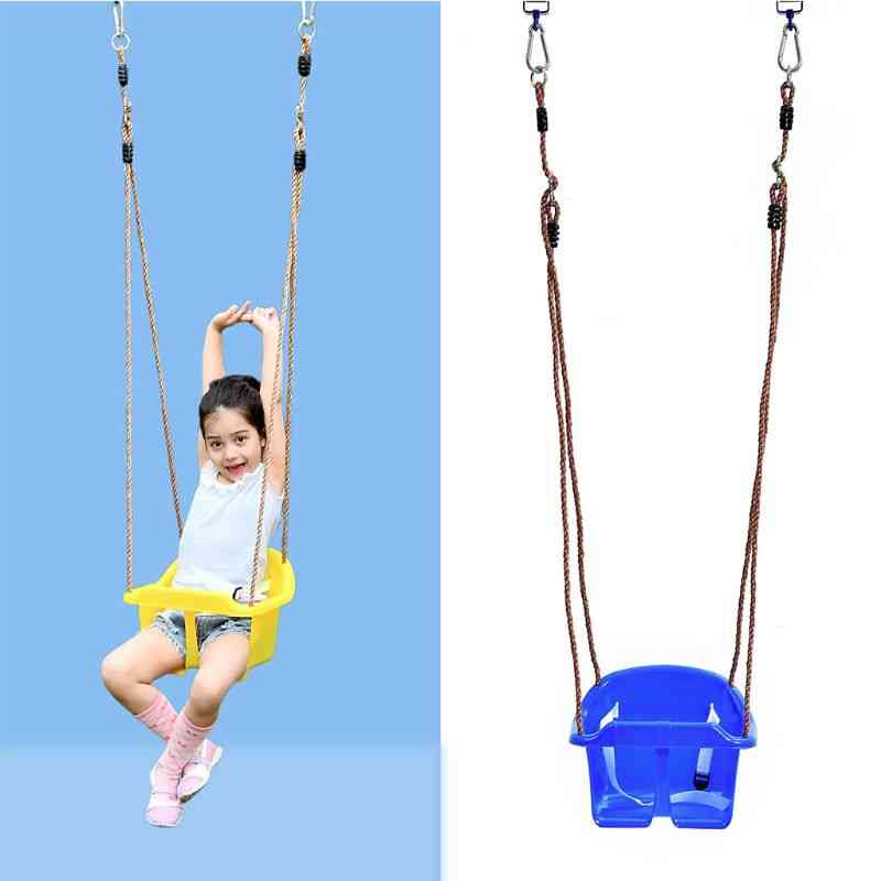 Rope Swing Seat With Rope & Mounting Rings For Kids Plastic Swing